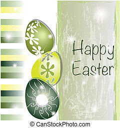 Green and yellow Easter card