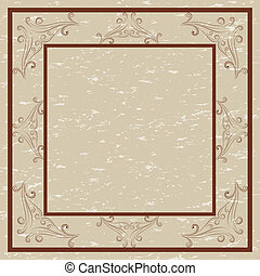 Decorative border and frame for invitations and cards