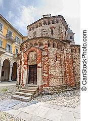 Biella Italy - Baptistery - Biella Piedmont, Italy -...