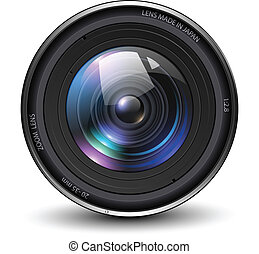 Photo lens - Camera photo lens, vector illustration