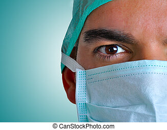Surgeon with face mask
