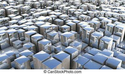 cube pan reflection - abstract background
