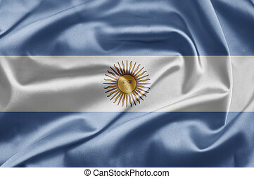 Flag of Argentina - Excellent bright image of flags for you...