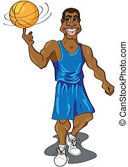 Basketball player - Cartoon illustration of a cute...