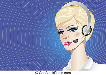 A callcenter operator - An illustration of pretty friendly...