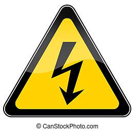 High voltage sign - High voltage warning sign illustration