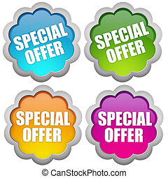 Specail offer stickers set