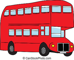 London bus. Vector illustration.