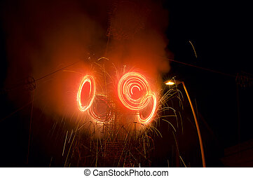 El Castillo Fireworks at Chapala Mexico - Fireworks display...