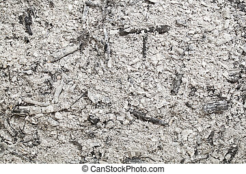 burned wood ash background from home fireplace