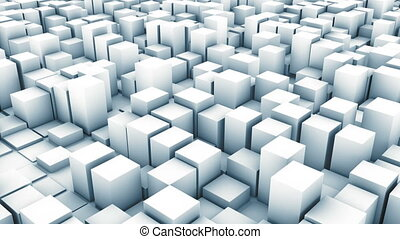 cube track white - abstract background