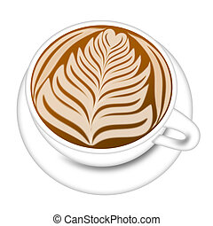 Cup of Latte Espresso Drink Illustration - Cup of Latte...