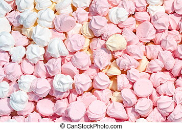 Meringue background - Background of pink white and yellow...