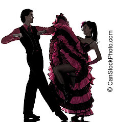 couple man woman dancer dancing french cancan