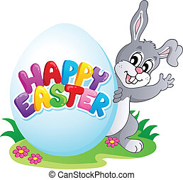 Happy Easter sign theme image 4 - vector illustration