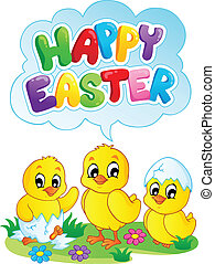 Happy Easter sign theme image 5 - vector illustration