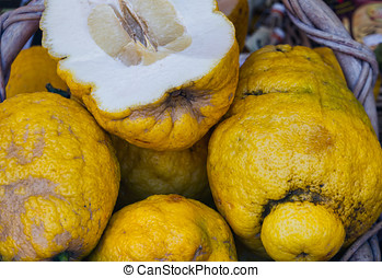 Cedrat Fruit Properly the citron, a variety of Citrus...