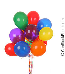 Helium party balloons - a bouquet of colorful helium...