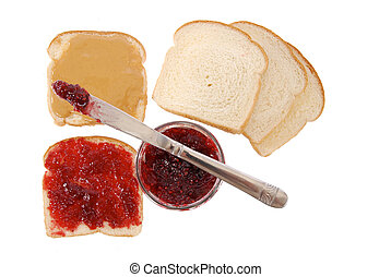 Peanut butter and jelly sandwiches - peanut butter and jam...