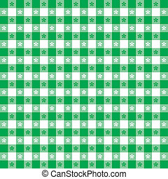 Seamless Tablecloth Gingham Pattern