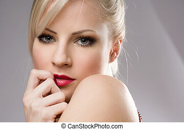 Gorgeous young blond woman - Sensual portrait of a gorgeous...