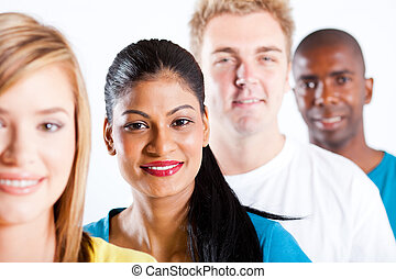 people diversity - group of diverse people closeup portrait