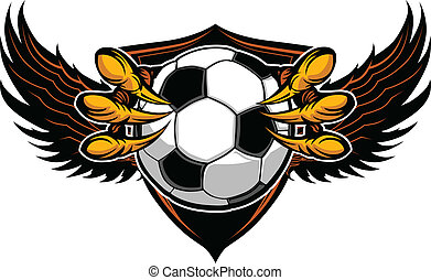 Eagle Soccer Talons and Claws Vector Illustration