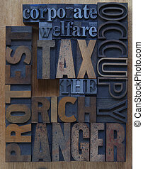 tax the rich - words related to the Occupy Wall Street...
