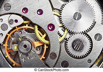 mechanism gear of vintage clock