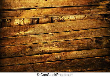 grunge wooden fence with rusty nails background