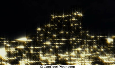 City night-scape abstract - City night-scape flight abstract...