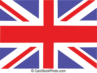 Great Britain flag. Vector illustration