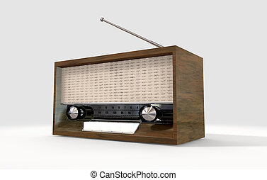 Vintage Radio - A vintage wooden radion with a pull out...