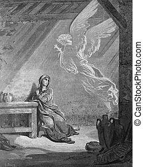 Angel Gabriel and the Mary Annunci - 1 Le Sainte Bible:...