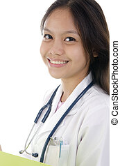 asian mixed malay race medical student