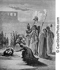 Baby Moses and Pharaoh's daughter - 1) Le Sainte Bible:...