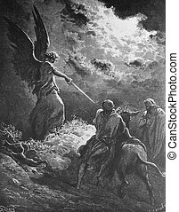 Balaam and his donkey - 1 Le Sainte Bible: Traduction...