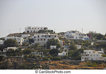 A view of the Mykonos town
