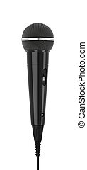 Microphone - 3d render of microphone on a white background
