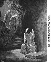 The angel at the tomb of the Lord - 1 Le Sainte Bible:...