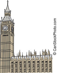 Big Ben in London Vector illustration