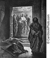 The Pharisees and the publican - 1) Le Sainte Bible:...