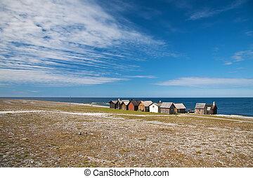 small village near the sea at Faro island