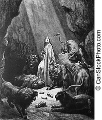 Daniel in the lions pit - 1) Le Sainte Bible: Traduction...