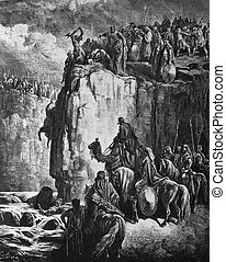 Elijah executes the prophets of Baa - 1) Le Sainte Bible:...