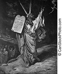 Moses and the commandments - 1) Le Sainte Bible: Traduction...