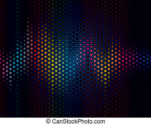 Sound Wave - Abstract background of sound wave with speaker...