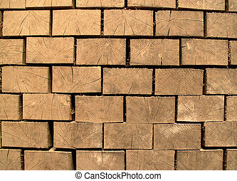 Square logs - The background image of section of square logs...