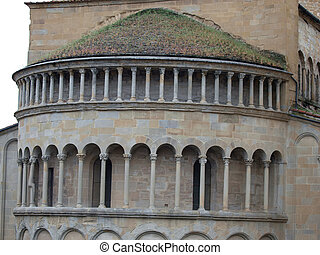 Arezzo - Romanesque Apse of Santa Maria della Pieve in...