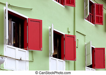 Shuttered building in Singapore